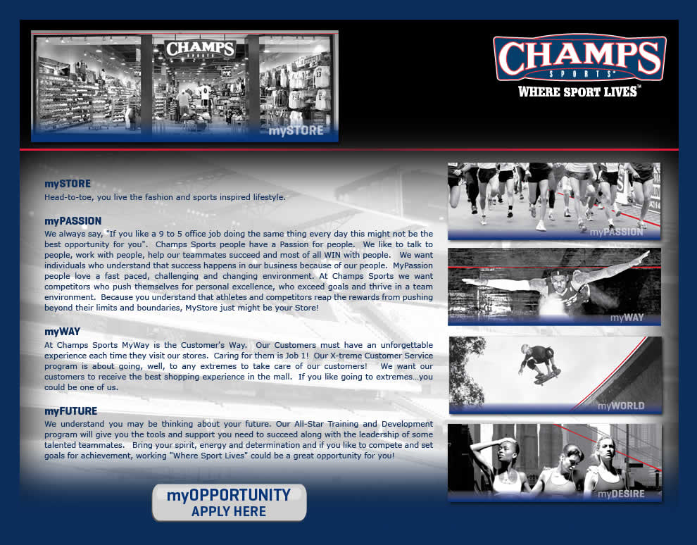 Champs Sports Careers - Apply Here